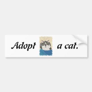 Adopt a cat promotion bumper stickers