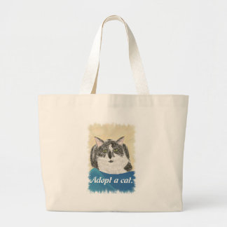 Adopt a cat promotion Canvas Bags
