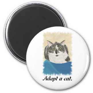 Adopt a cat promotion magnets