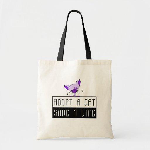 Adopt A Cat Save A Life Bag