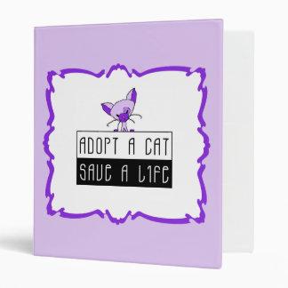 Adopt A Cat Save A Life Binder