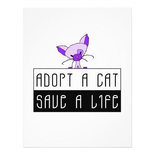 Adopt A Cat Save A Life - Customizable Flyer Design