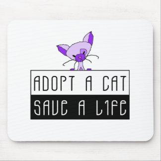 Adopt A Cat Save A Life - Customizable Mouse Pad