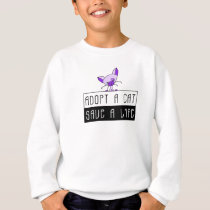 Adopt A Cat Save A Life Sweatshirt