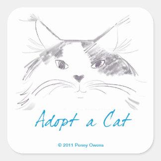 Adopt a Cat Sticker