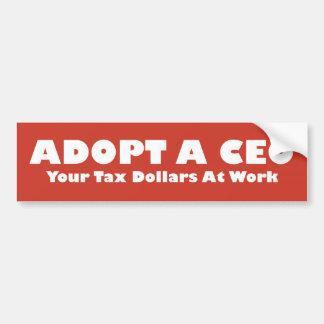 Adopt A Ceo Bumper Sticker