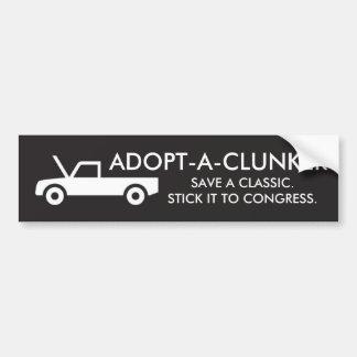 ADOPT-A-CLUNKER BUMPER STICKER