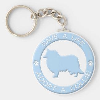 Adopt a Collie Keychain