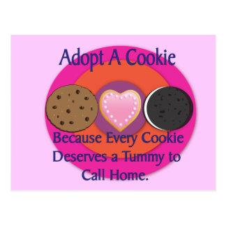 Adopt a Cookie Postcard