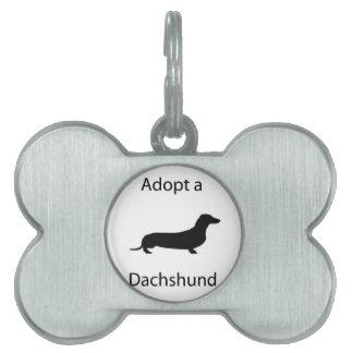 Adopt a Dachshund Pet Tags