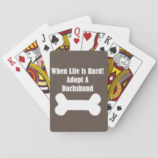 Adopt A Dachshund Playing Cards