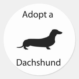 Adopt a Dachshund Sticker