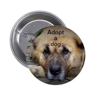 Adopt A Dog Pinback Buttons