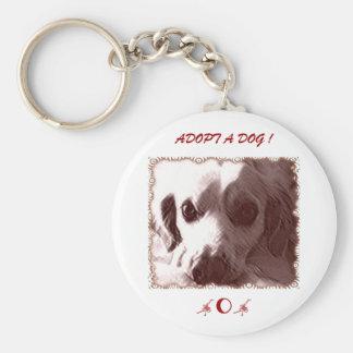 Adopt a Dog Keychain