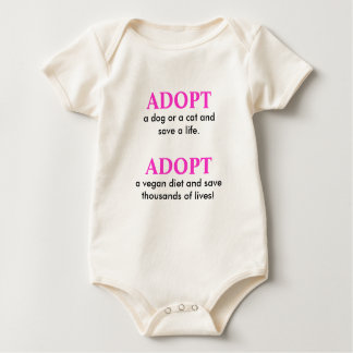 ADOPT, a dog or a cat and save a life., ADOPT, ... Baby Bodysuit