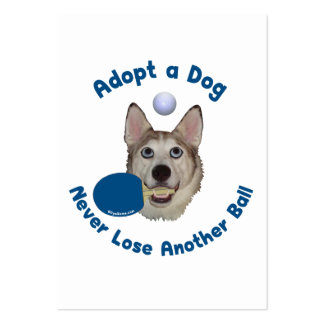 Adopt a Dog Ping Pong Large Business Cards (Pack Of 100)