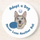 Adopt a Dog Ping Pong Coasters