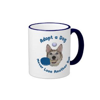 Adopt a Dog Ping Pong Ringer Coffee Mug