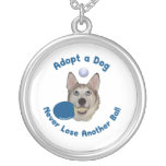 Adopt a Dog Ping Pong Personalized Necklace