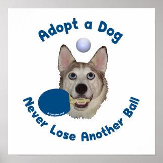 Adopt a Dog Ping Pong Print