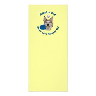 Adopt a Dog Ping Pong Rack Card