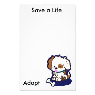 Adopt a Dog Custom Stationery