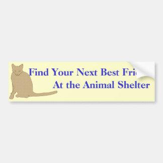 Adopt A Friend Bumper Sticker 1