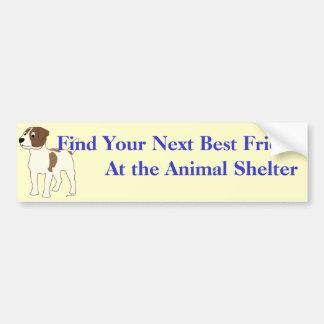 Adopt A Friend Bumper Sticker 18