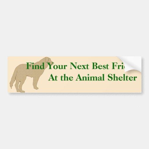 Adopt A Friend Bumper Sticker 4