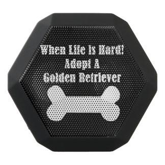 Adopt A Golden Retriever Black Bluetooth Speaker