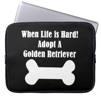 Adopt A Golden Retriever Laptop Computer Sleeve