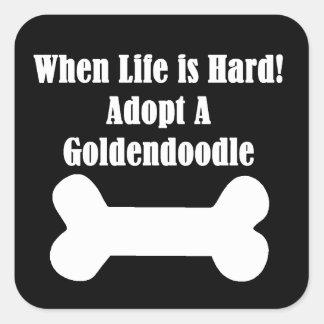 Adopt A Goldendoodle Square Sticker