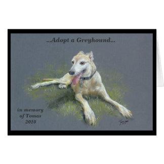 ADOPT A GREYHOUND CARD