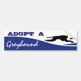Adopt a Greyhound Dog Car Bumper Sticker