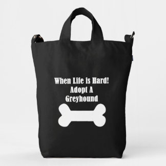 Adopt A Greyhound Duck Bag