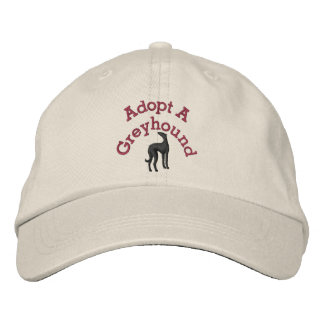Adopt A Greyhound Embroidered Baseball Cap