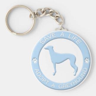 Adopt a Greyhound Keychain