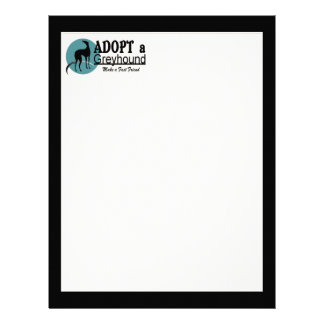 Adopt a Greyhound Letterhead