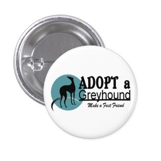 Adopt a Greyhound Logo 2 Inch Square Button