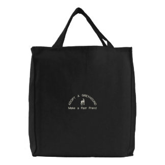 ADOPT A GREYHOUND Make a Fast Friend Canvas Bags