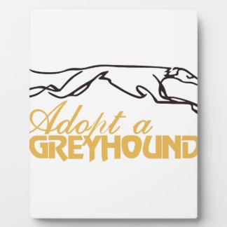 Adopt a Greyhound Plaque