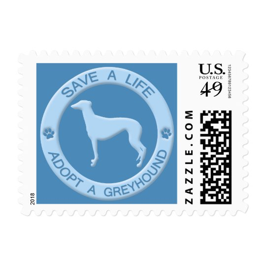 Adopt a Greyhound Postage Stamps