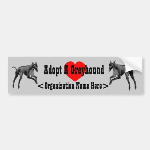 Adopt A Greyhound Rescue Bumper Sticker