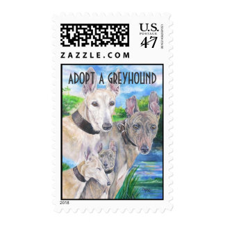 Adopt a Greyhound Stamp