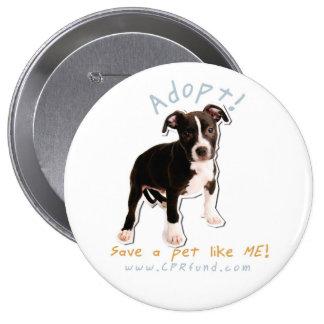 adopt a homeless dog buttons