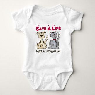 Adopt A Homeless Pet Baby Baby Bodysuit