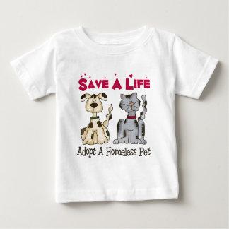 Adopt A Homeless Pet Baby T-Shirt