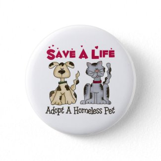 Adopt A Homeless Pet Button button