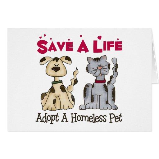 Adopt A Homeless Pet Greeting Card