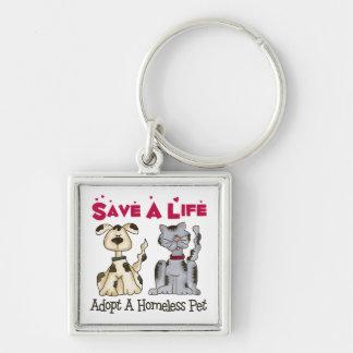 Adopt A Homeless Pet Keychain